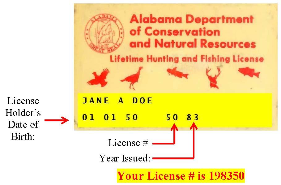 Help for Alabama fishing license